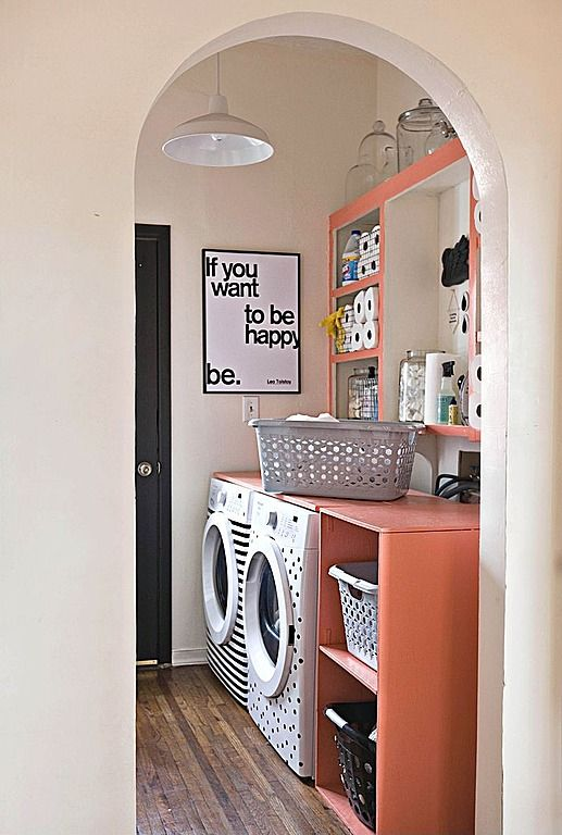 Found on Zillow Digs. Cheery laundry room.