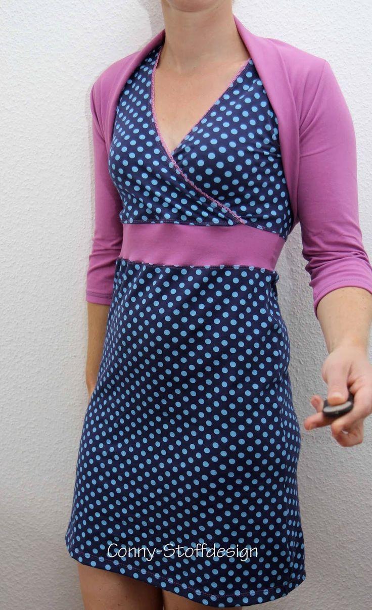 Kleid:Frau Luise - Wickeltop als Kleid verlängert: Rock toni - das milchmonster)  Shrug: Bolero lynn lillestoff - dotties petrol