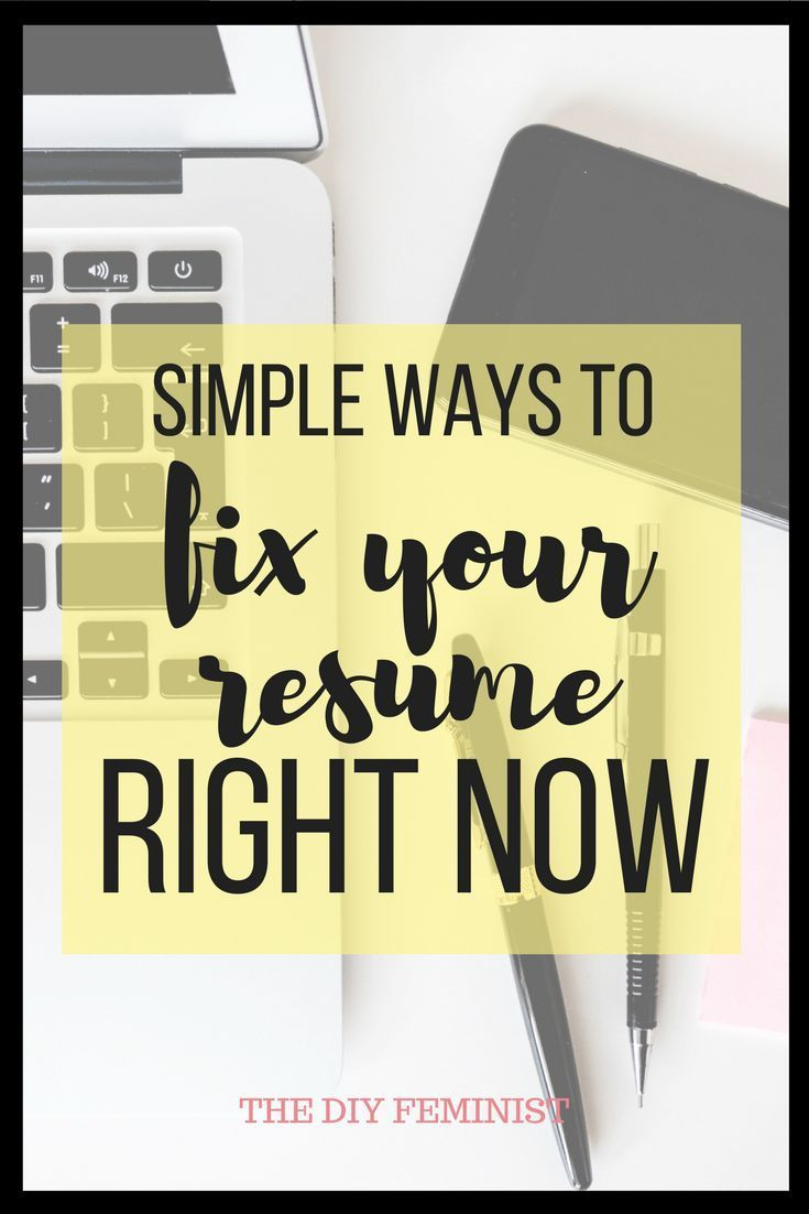 68d4ef9fa191d4 Simple Ways To Fix Your Resume Right Now