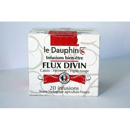 "Tisane bio ""Flux Divin"" - Boite 20 infusettes - Le Dauphin"