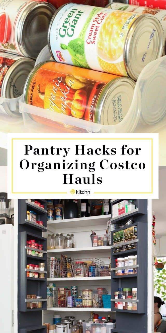 The 10 Best Pantry Hacks On Pinterest For Organizing Your Costco Haul Diy Pantry Organization Pantry Organization Dollar Store Small Pantry Organization