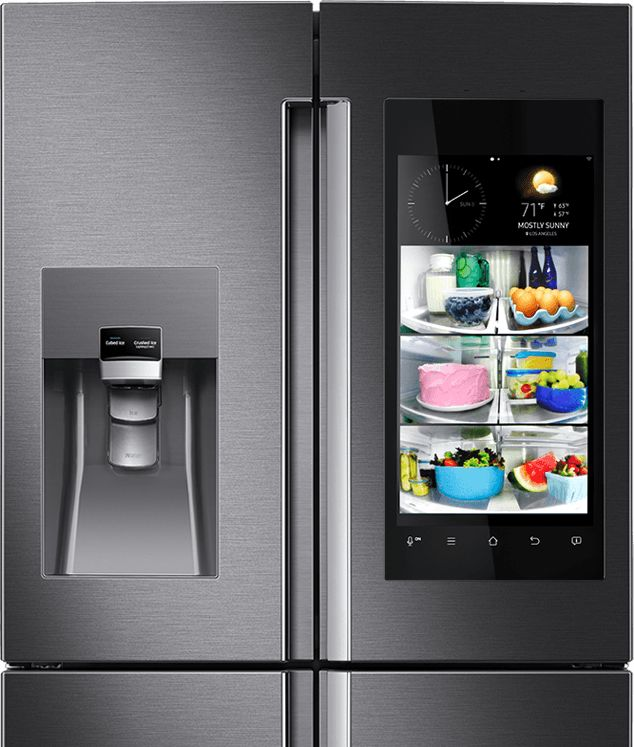 Have you seen the new samsung Family Hub refrigerator with a wifi-enabled touchscreen?  Wow.  #smarthome
