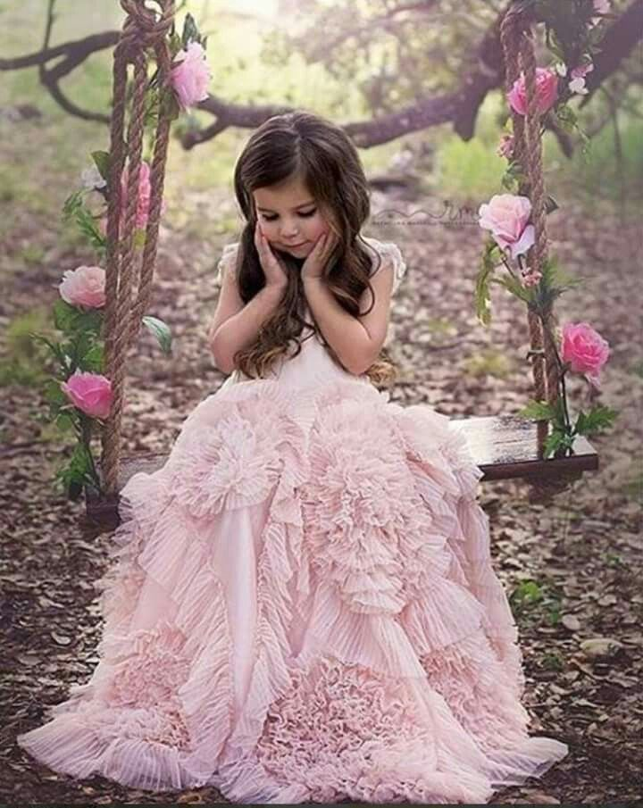 Too Precious!!  Loving this textured ruffle gown and floral swing. From Dollcake Oh-So-Girly xoxo