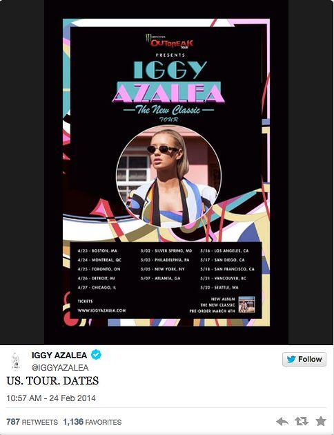 REHAB Online Magazine | Entertainment Iggy Azalea tour dates!