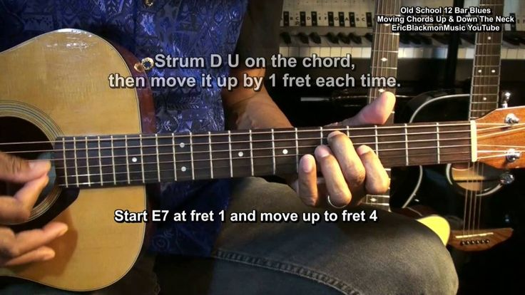 12 Bar Blues Moving Chords Up & Down The Guitar Neck EEMusicLIVE