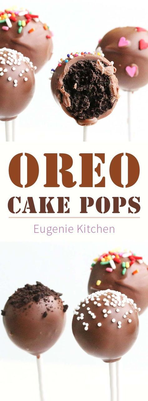 The easiest cake pops ever! Cream cheese, Oreo cookies and melted chocolate will…   – Cake pops