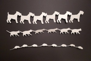 paper chain - low commitment projects: Animal Paper, Paper Projects, Fish Paper, Commitment Projects, Paper Crafts, Paper Chains, Business Ideas, Cat Parties, Parties Decor