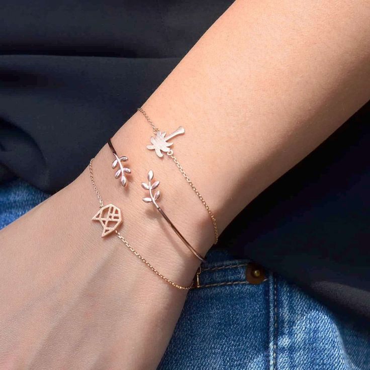Chat Origami Rose Gold Bracelet - Majolie