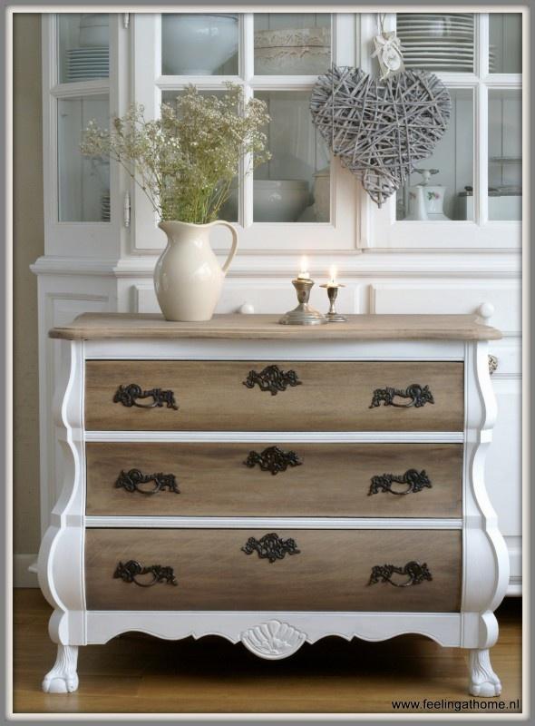 25 beste idee n over kast opknappen op pinterest keuken kast grijze gebruikte meubels en - Redo houten trap ...