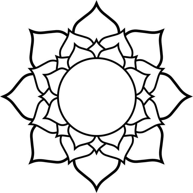 Simple Line Drawing Of A Flower : Clipartist lotus black white line art tattoo tatoo