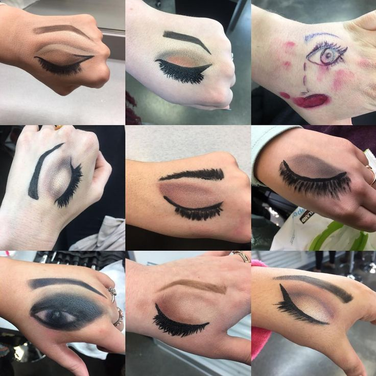 Eye makeup at Oliver Finley Academy of Cosmetology