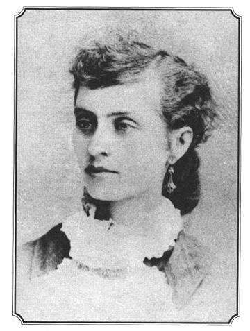 """Louisa Earp, Morgan Earp's Wife. Her sister-in-law Adelia Earp described Lou as """". . . a stunning looker . . . a fine person . . . and a clever young lady . . ."""" who was well-educated and """". . . had been to good schools . . ."""""""