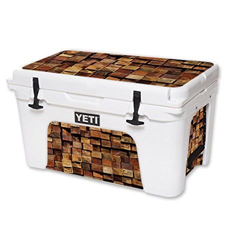 MightySkins Protective Vinyl Skin Decal for YETI Tundra 45 qt Cooler wrap cover sticker skins Stacked Wood >>> You can get additional details at the image link.(This is an Amazon affiliate link and I receive a commission for the sales)