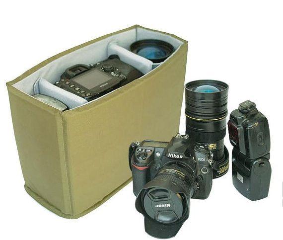 Nikon Canon Camera bag one body Two Lens B32