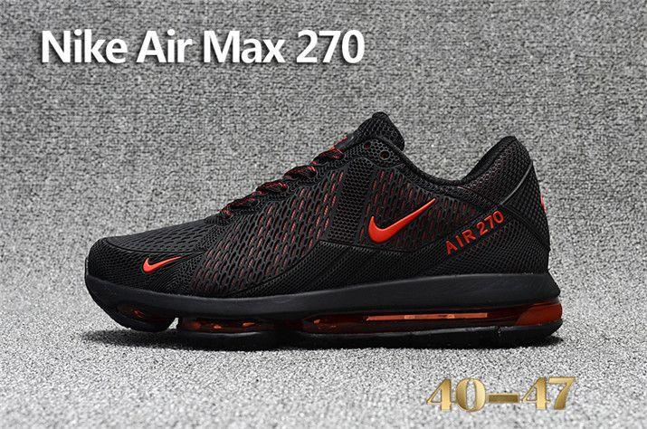 537f4619ac1 2018 Latest Fashion Nike Air Max 270 KPU Mens Sneakers Black Red Online