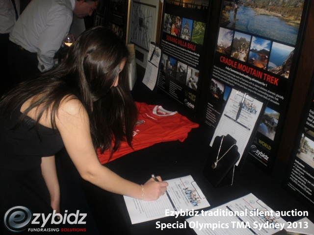 Ezybidz traditional silent auction Special Olympics TMA Sydney 2013 Finding The Best Auction Method For Your Charity Event Based On Timing
