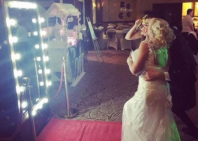 Happy Bride using the Selfie Mirror at her wedding at Hilton Grosvenor Edinburgh Haymarket. Visit our Facebook page and message to hire..... https://m.facebook.com/mirrormirrorselfiebooth/