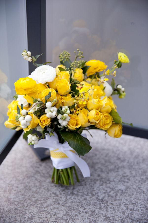 Yellow Wedding - Gemini Photography Ontario #bouquet #yellow