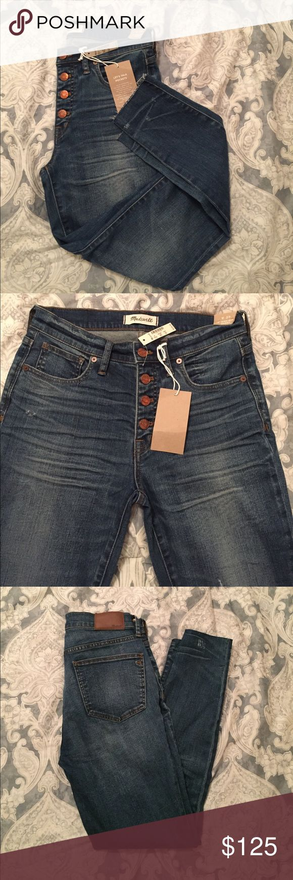 Madewell high rise button fly jeans Madewell 9 inch high rise button fly skinny jeans. New. Madewell Jeans Skinny