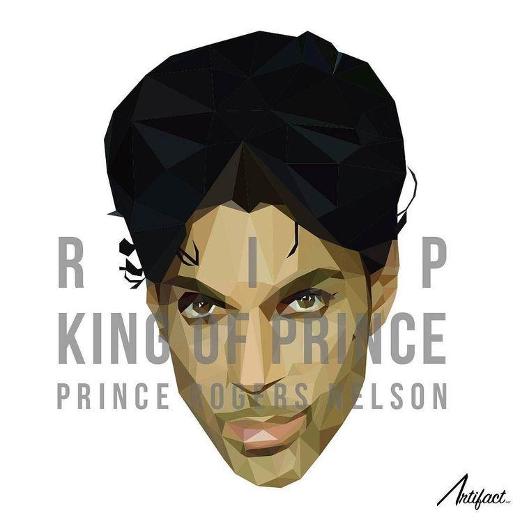 KING OF PRINCE.  RIP to @prince  #prince #princerogersnelson #80s #rip #legend #polygonart #polygon #lowpoly #プリンス