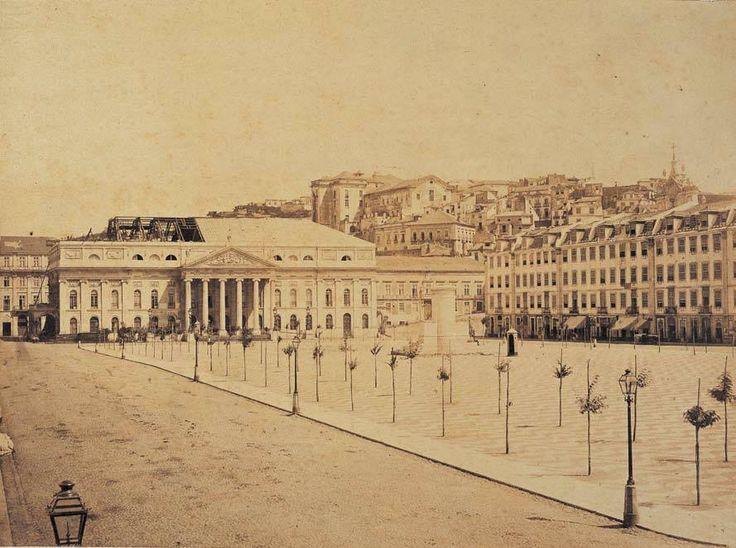 Rossio, 1862, Wenceslau Cifka. Coll. Lisboa Desaparecida, vol. 7, Lisboa pelos Olisipógrafos