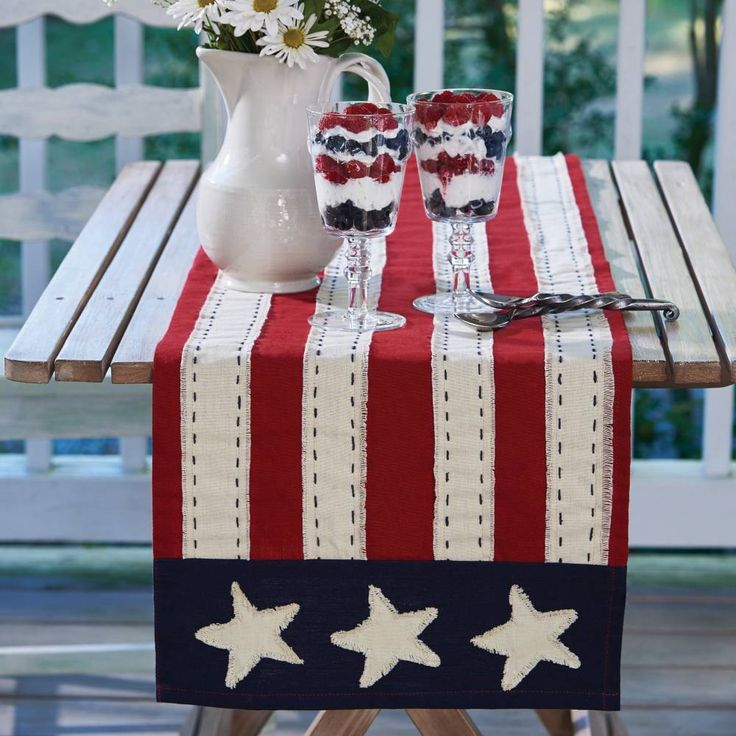 "Star Spangled 36"" Table Runner"