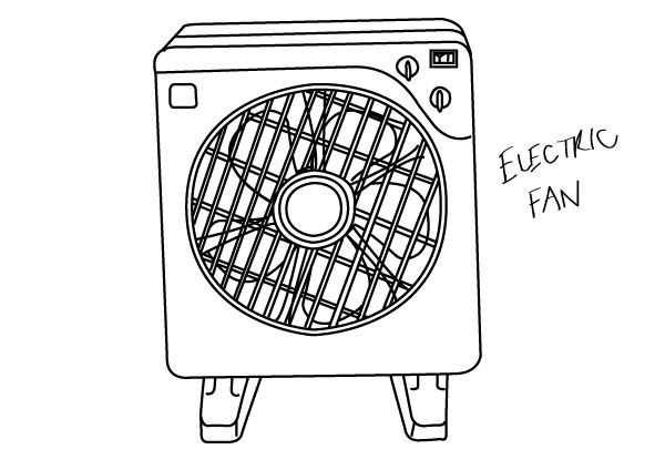 A Sketch Of A Electric Fan : Best images about nid object drawing on pinterest