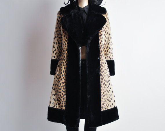 Wunderlich animale stampa cappotto / leopardo di persephonevintage