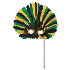 12 units of Feathered Mask w/Stick