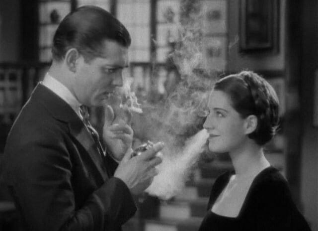 Clark Gable and Norma Shearer in a scene from A Free Soul, 1931