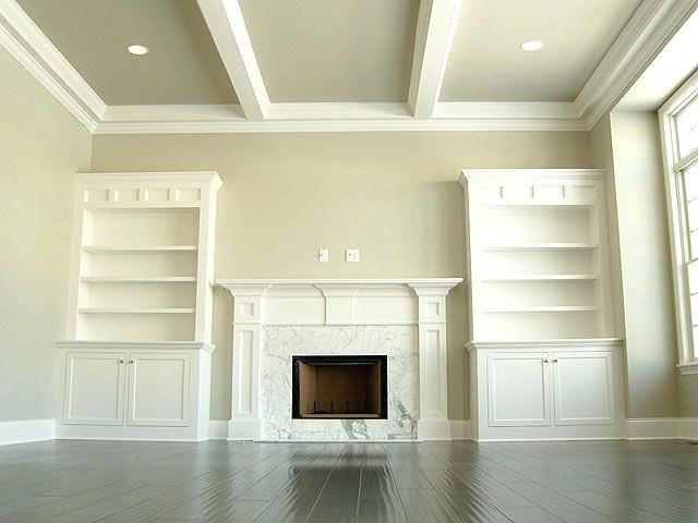 White Ceiling Beams Painted