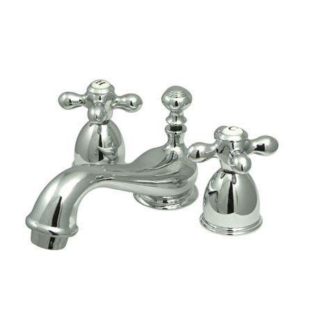Elements of Design Mini Widespread Bathroom Faucet Spread with Double Cross Handles