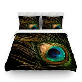 Peacock by Alison Coxon Featherweight Duvet Cover