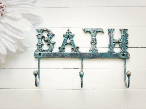 Wall Metal Art For Bathroom : Metal wall decor bathroom hooks