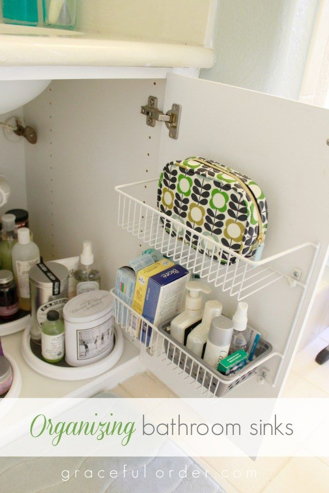 Best 25 under sink storage ideas on pinterest diy Organizing ideas for small bathrooms