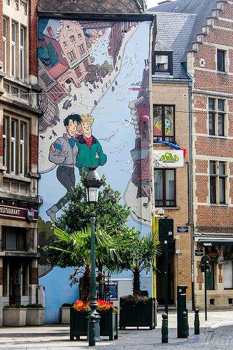 Turismo en Bruselas a través de sus murales del cómic