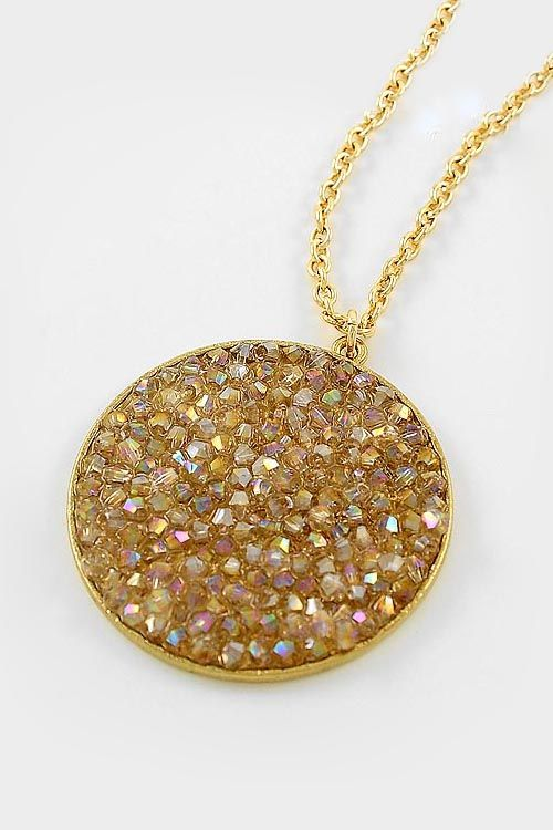 Champagne Crystal Aspen Necklace