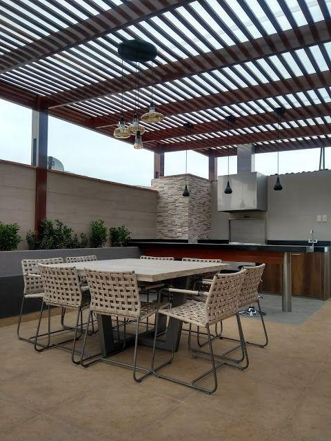 Rooftop Patio Pergola