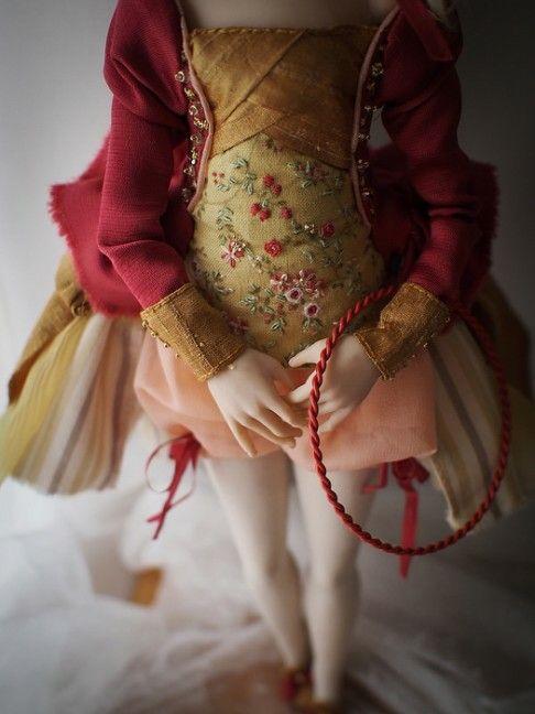 """Summer"". Handmade OOAK doll. #romantic #wonders #doll #OOAK #home #decor #decoration #art #artdoll #silk #polymer #clay #homemade #handmade #greece #oneofakind #artwork #κουκλα #τεχνη #χειροποίητο #πηλος #πολυμερικος #διακοσμηση #кукла"