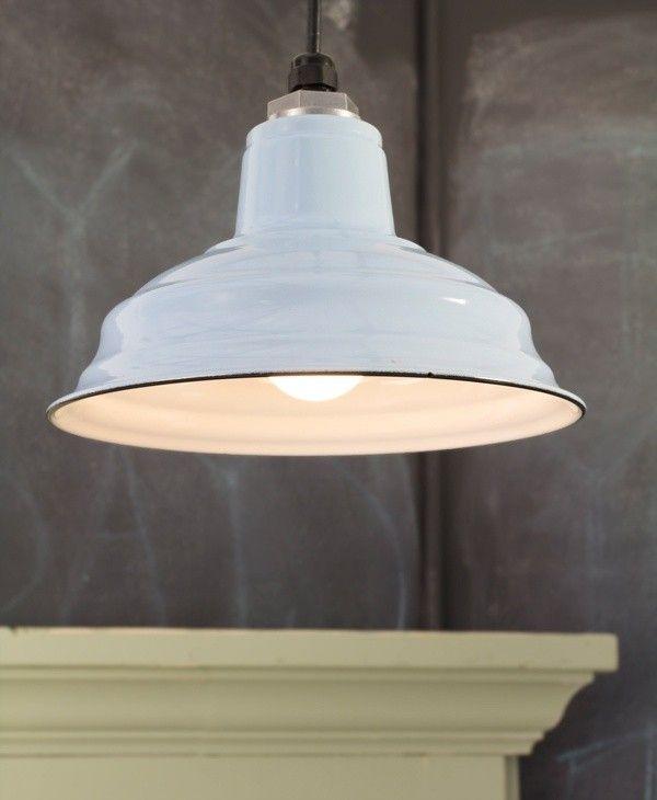 porcelain pendant / Barn Light Electric White Enamel Shade | Remodelista