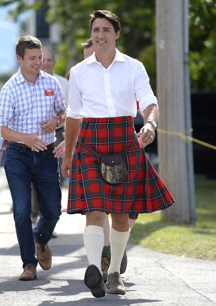 Canadian Prime Minister Justin Trudeau in kilt