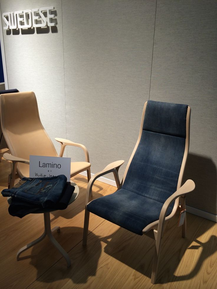 Swedese Lamino with Nudie Jeans collaboration at Stockholm Furniture Fair 2015