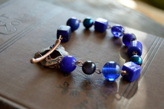 Cobalt Blue Bracelet by AmarisJewelry on Etsy
