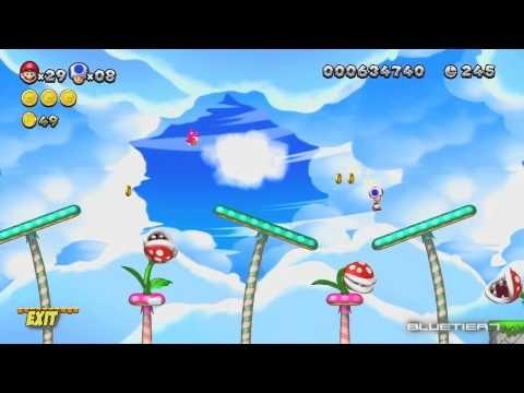 New Super Mario Bros U Co Op Acorn Plains 4