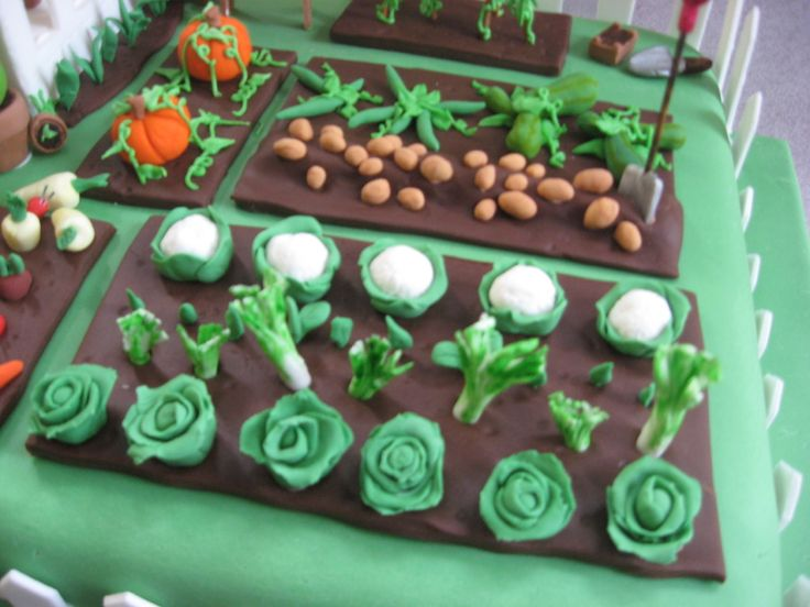 Cake Decorating Vegetables : 25+ best ideas about Vegetable Garden Cake on Pinterest ...