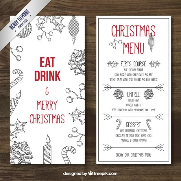 26 best menu images on Pinterest Editorial design, Food menu - christmas menu word template