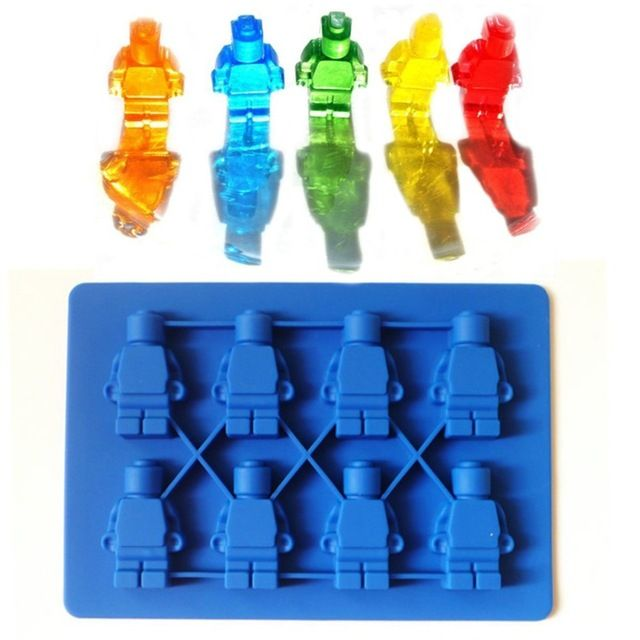 Lego Minifigure Ice Cube Tray Silicone Candy Mold Sweet Chocolate DIY Moulds