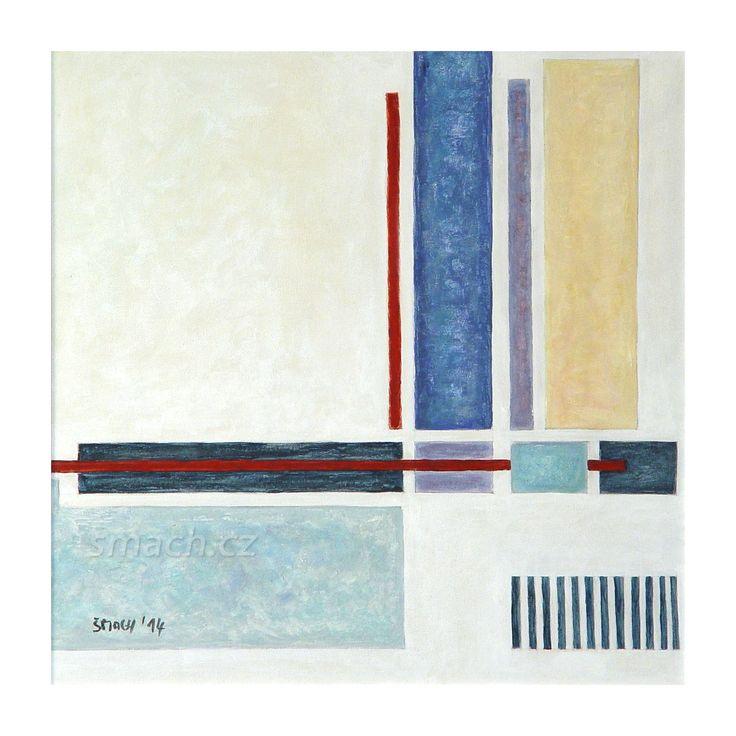 Vertikály Akryl na plátně / Acrylic on canvas 42 x 42 cm