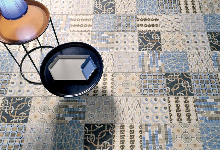 Nieuwe keramische 20x20 patchwork vloertegels, prachtige kleurencombinatie (19-TI) Tegelhuys