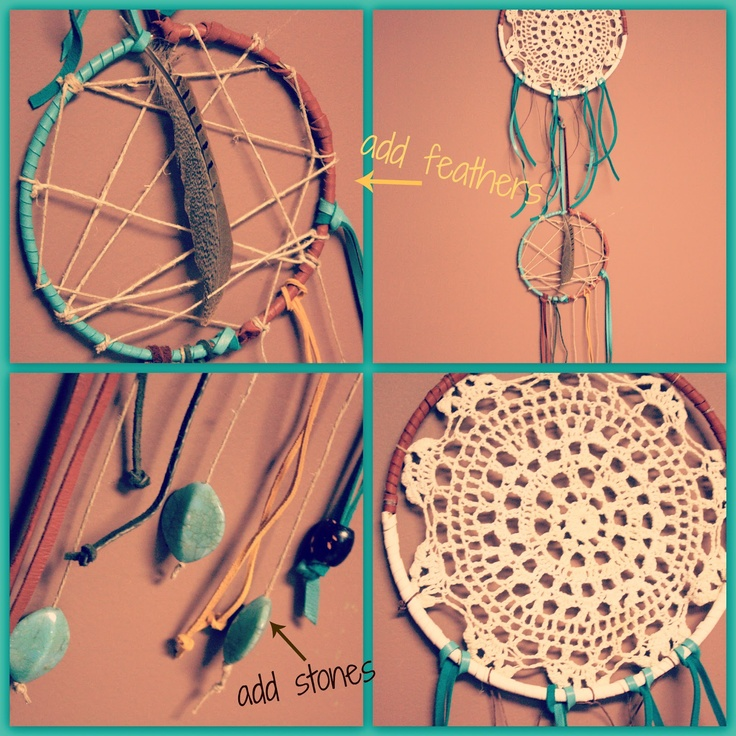 17 best images about dream catchers on pinterest doily for How to tie a dreamcatcher web